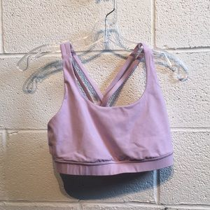 lululemon athletica Tops - Lululemon light purple energy bra top sz 8 57606